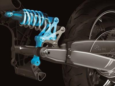 Unidad de choque de suspensión trasera en motocicleta