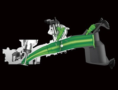 Inyector doble en motor de motocicleta